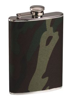 651 Rothco Woodland Camo Stainless Steel Camo Flask