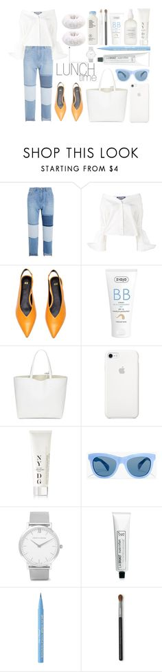 """""""Lunch Time"""" by gizzemm97 ❤ liked on Polyvore featuring Steve J & Yoni P, Jacquemus, Ziaja, NYDG, J.Crew, Larsson & Jennings, L:A Bruket, Too Faced Cosmetics and Jouer"""