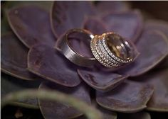 Wedding ring photo from a Brilliant Earth couple
