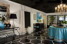 black floor painting