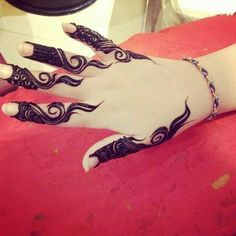Elegant and unique finger mehndi designs8