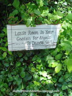 My Thrift Store Addiction : Welcome to Secret Garden: My Creative Space! #Garden #OrganicHerbs #Angels