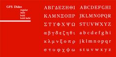 Greek Alphabet Letter Font GFS Didot
