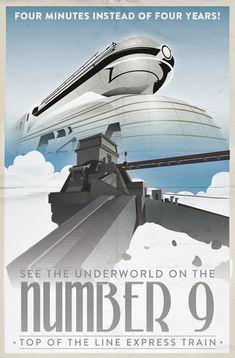 Vintage Travel Posters - Grim Fandango on Behance