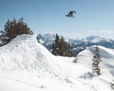 @ulrikbadertscher getting off axis on a solid gap in Laax Switzerland. Photo: @akaschwartz #twsnow