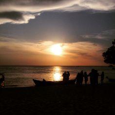 Por do sol - Praia Alter do Chão - caribe brasileiro - Santarém PA