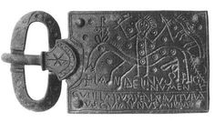 Dr Caitlin Green @caitlinrgreen 1h1 hour ago  A photograph of the Merovingian buckle showing Christ w/ fangs on horseback, via http://plaques-boucles.chez-alice.fr/