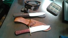 Belt knife and coffin handle bowie.