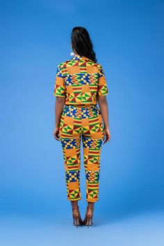The Fabba Pants is a must have! It's sexy design is perfect for showing off your curves, and will make you feel incredible every time you wear it. African Print Pants, African Print Fashion, Africa Fashion, African Prints, African Attire, African Wear, African Dress, African Women, Latest African Fashion Dresses