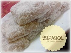 Espasol is a sweet rice pudding which originated in Laguna, Philippines, made of glutinous rice flour cooked in coconut milk.