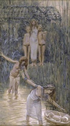 Pharaoh's Daughter Has Moses Brought to Her - James Tissot