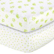 "Babies R Us Sateen Crib Sheet 2 Pack - Baby Elephant/Dot - Babies R Us - Babies ""R"" Us"