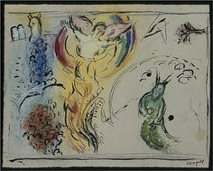 Moses with the Burning Bush - Marc Chagall
