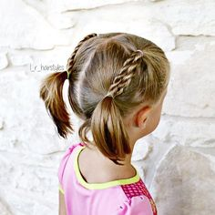 Rope braids into pigtails. Still keeping it pretty simple until I get the hang…