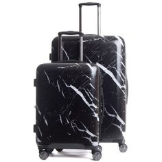 Calpak Astyll 22-Inch & 30-Inch Spinner Luggage Set ($265) ❤ liked on Polyvore featuring bags, luggage, suitcase, bolsas and midnight marble