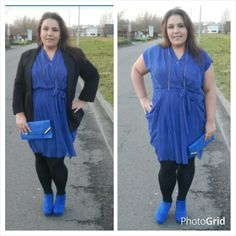 Plus size electric blue dress from lovedrobe