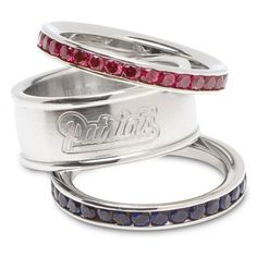 Patriots Ladies Stacked Ring Set
