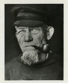 Vintage Souvenir Photo Old Fisherman Photography by dawnandross