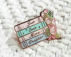 Pin Badges, Lapel Pins, Chapter One, Chapter Books, Enamels, Jacket Pins, Book Lovers Gifts, Cool Pins, Pin Collection
