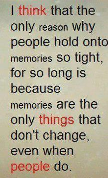 Memories! So true! One of my best friends and I don't really talk anymore since we moved up to the middle school