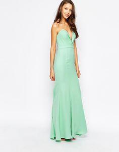 Image 4 ofJarlo Tall Helena Sweetheart Neckline Bandeau Maxi Dress