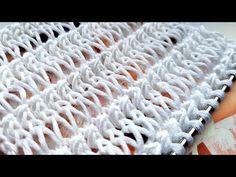 Knitting pattern ❤ Узор спицами ❤ strickmuster ❤ tricot ❤ how to knit ❤ tricô ❤ örgü deseni बुनना // Наталия Игнатюк Knitting Stiches, Knitting Videos, Baby Knitting Patterns, Knitting Needles, Stitch Patterns, Crochet Patterns, Weaving Patterns, Crochet Crafts, Needlework
