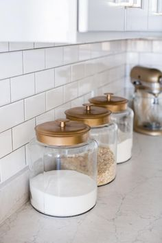 Inexpensive Kitchen Glass Canisters - Sincerely, Sara D. Inexpensive Kitchen Glass Canisters - Sincerely, Sara D. Glass Kitchen, Kitchen Items, Diy Kitchen, Kitchen Dining, Kitchen Layout, Modern Kitchen Decor, Awesome Kitchen, Kitchen Designs, Kitchen Utensils