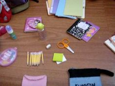 Back-to-school For Dolls video of some back to school supplies!