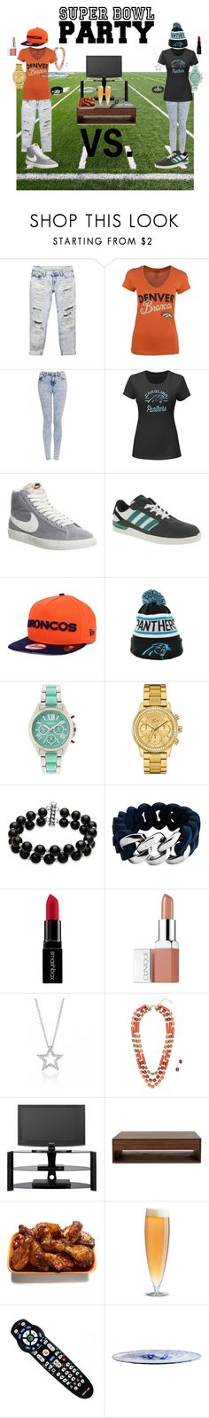 """""""Super Bowl 50"""" by scottejarvis ❤ liked on Polyvore featuring Wet Seal, Topshop, NIKE, adidas, New Era, Style & Co., Lacoste, Belk & Co., The Rubz and Smashbox"""
