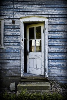 """Farmhouse Door"" by davidsteltz on Flickr - The back door to an abandoned farmhouse"