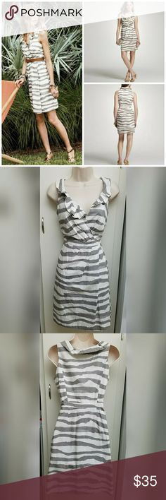 NWT J Crew vintage zebra print dress New in good condition  zips up on side great for any event. Total length is 36 inches J. Crew Dresses Midi