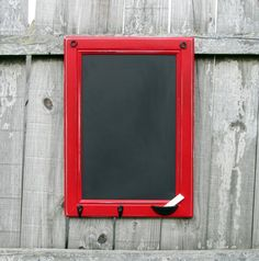 Repurposed cabinet door.  I like the idea of the chalk holder.