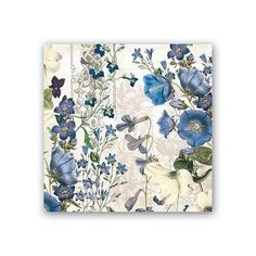 PAPER BEVERAGE NAPKINS ~ BLUE MEADOW ~ Michel Design Works
