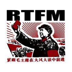 Check out this awesome 'RTFM Mao Little Red book' design on @TeePublic!