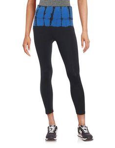 Calvin Klein Performance Tie-Dye Cropped Leggings Women's Blue X-Large