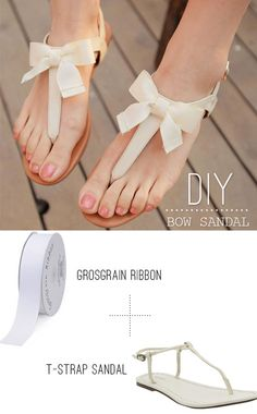 how to turn old sandals into new sandals