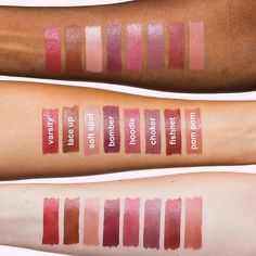 Swatch of the 8 new UNICORN LIPSTICK shades!