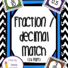 This pack can be used as a math game or math center/station. There are 23 pairs that match fraction and decimal.  Simply cut, (back if you want), l...
