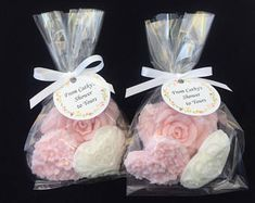 Rose and Heart Soap Favors - Set of 10 - Bridal Shower Favors - Wedding Soap Favors - Shower Soap Favors - Soap Party Favors