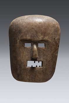 Mask, Hehe Wood, animal teeth, 39cm, Private Collection,