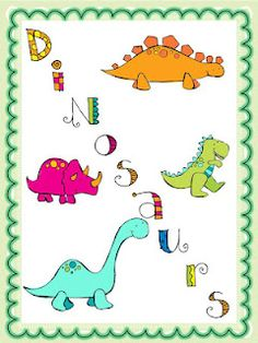 Dinosaurs - Printable Labels - Personal Use, Table, Gift ...Binder Clip Dinosaur
