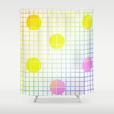 Fun with polka dots and colors by healinglove Shower Curtain by Healinglove art products - $68.00