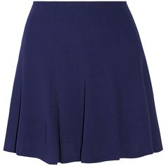 Sandro Juliette textured crepe mini skirt ($39) ❤ liked on Polyvore featuring skirts, mini skirts, bottoms, saias, blue, zipper skirt, mini skirt, blue skirt, textured skirt and short skirts