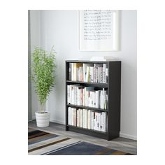 Simpler and smaller version of my bookcase (Billy-Oxberg bookcase) for brother's room. BILLY Bookcase, black-brown black-brown 80x28x106 cm
