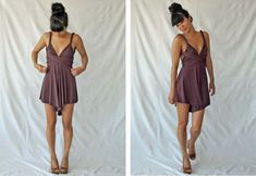 The simplicity of my patterns has been taken to a new level. This pattern contains 4 seams. This romper (yes, it's s. Romper Pattern, Jumpsuit Pattern, Infinity Dress Patterns, Women's Fashion Dresses, Diy Fashion, Free Printable Sewing Patterns, Free Sewing, Diy Mode, Convertible Dress