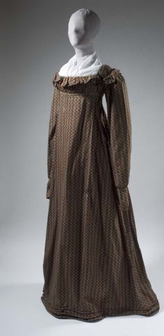 Cotton Dress | 1810-15 | Fries Museum