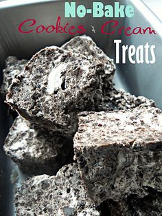 SteakNPotatoesKindaGurl: No-Bake Cookies & Cream Treats {Week 8 of The 12 Weeks of Christmas Cookies and Sweets! No Cook Desserts, Sweets Recipes, Just Desserts, Delicious Desserts, Yummy Food, Holiday Baking, Christmas Baking, Christmas Cookies, Christmas Ideas
