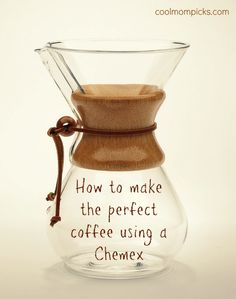 If you've ever wondered how to make coffee with a Chemex coffeemaker, we've got you covered. Because who needs perfect coffee more than parents?