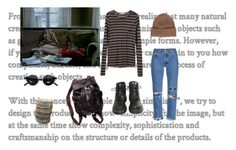 """Day on the couch"" by mandijh ❤ liked on Polyvore featuring T By Alexander Wang, Bliss and Mischief, Free People, House of Holland, Dr. Martens and malo"