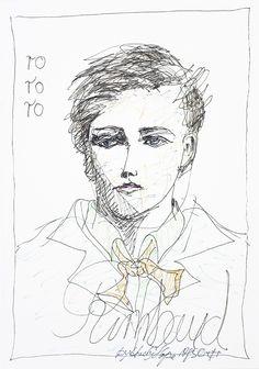 Andy Hope / Arthur Rimbaud, 1996 Paul Verlaine, Famous People, Writer, Faces, Punk, Drawings, Artist, Poet, Writers